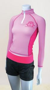Women's Long sleeves Half-frontzip Sports Top