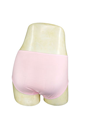 PINK high cut briefs for Urinary incontinence in elderly female